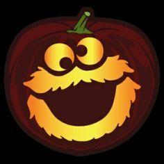 Cookie monster pumpkin stencil halloween pinterest for Monster pumpkin carving patterns