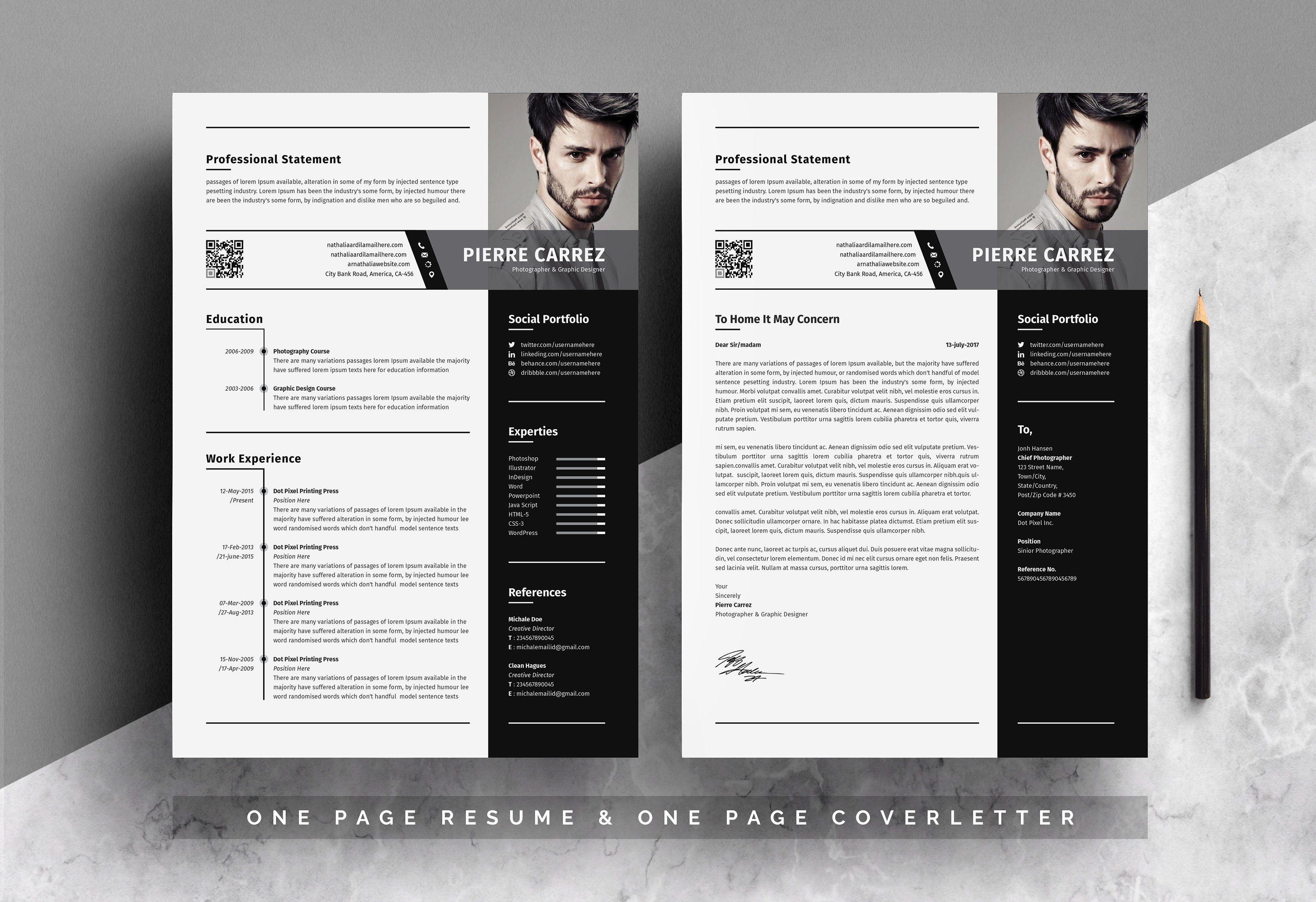 Modern Resume Template Desain Resume