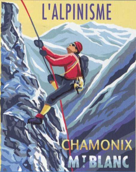 L'ALPINISME, THE MOUNTAIN CLIMBER NEEDLEPOINT CANVAS
