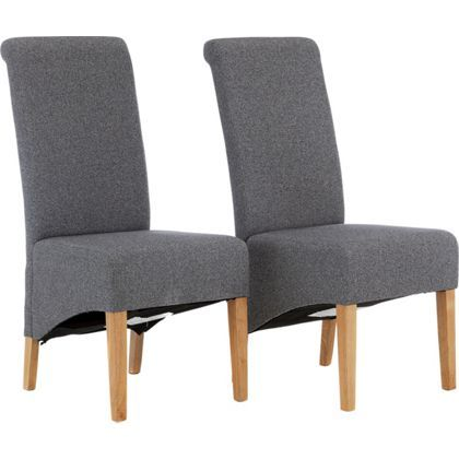Woburn Pair Of Skirted Dining Chairs  Charcoal  Dining Room New Charcoal Dining Room Design Decoration
