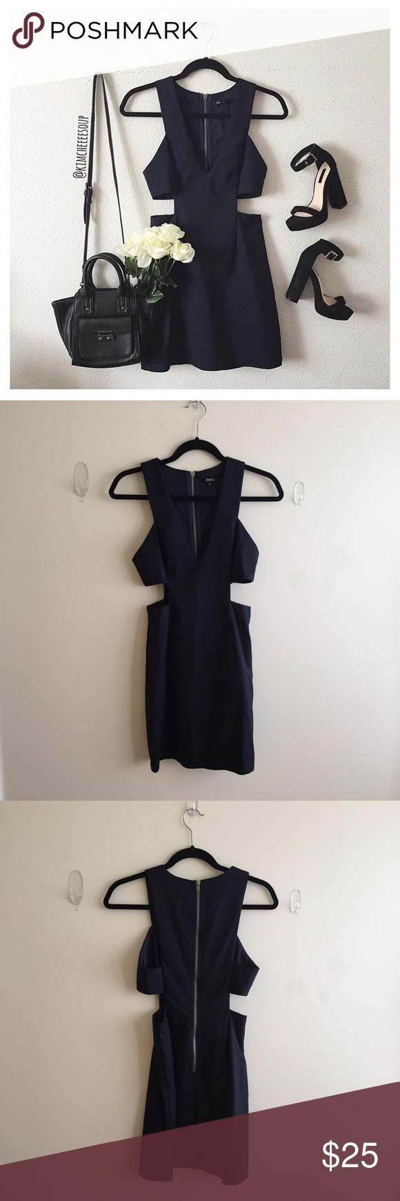 Stelly Clothing Navy Dress Super cute for a night out, not LF. NWOT LF Dresses Mini