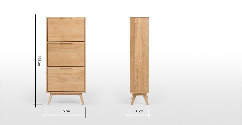 Jenson Shoe Storage Cabinet Oak Meuble Chaussure Placard Chaussure Meuble Rangement