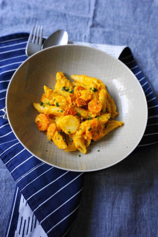 Kürbis One Pot Pasta - ein blitzschnelles vegetarisches Familienrezept