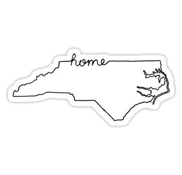 Sticker North Carolina State Outline Decal