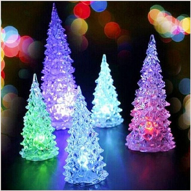 Aliexpress  Buy LED Glow In Dark Artificial Mini Christmas