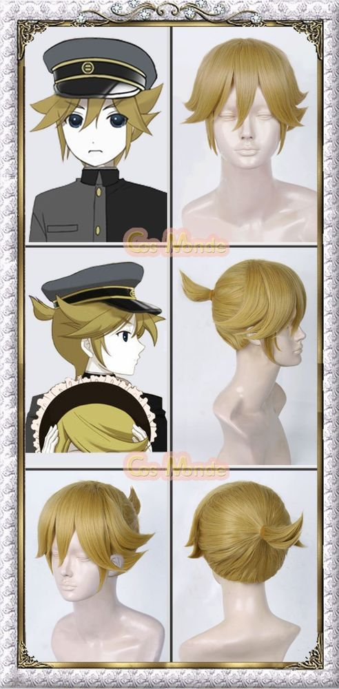 Japan Anime Vocaloid Hatsune Kagamine Rinn Cosplay Wig Coif Gift