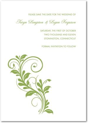 Elegant Impression - Thermography Save the Date Cards - Magnolia - Formal Invitation Letters