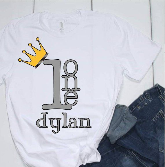 1 Year Old Personalized Prince TSHirt First Birthday Shirts Boy One