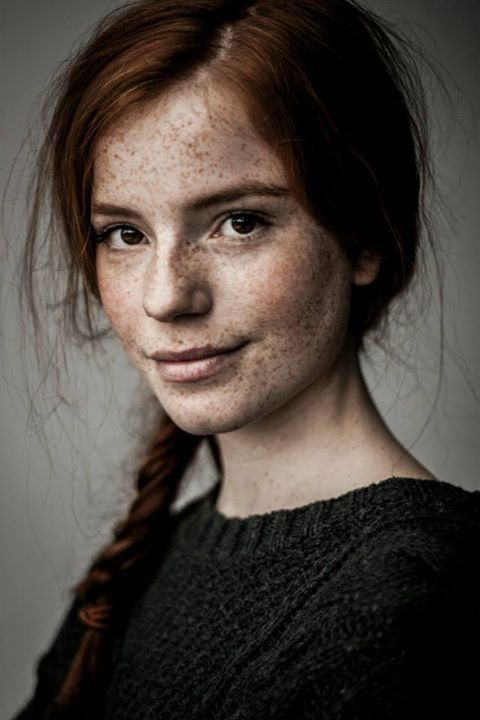 I find her freckles so pretty!