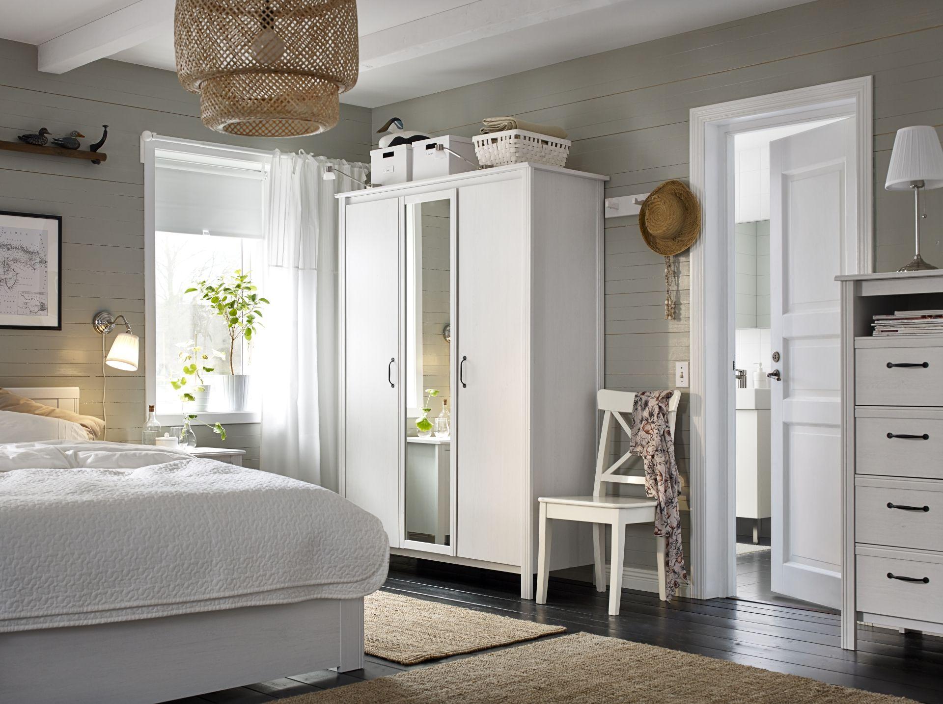 Une chambre classique et raffinée avec la série BRUSALI IKEA