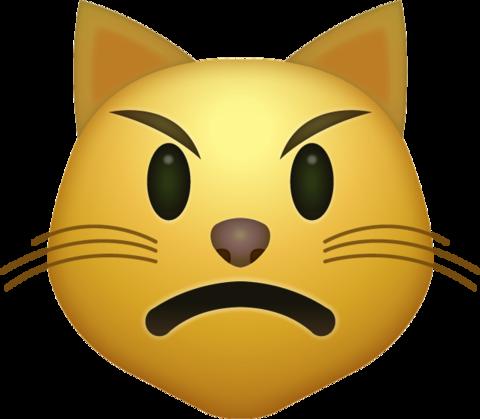 Angry Cat Emoji [Download iPhone Emojis] Cat emoji