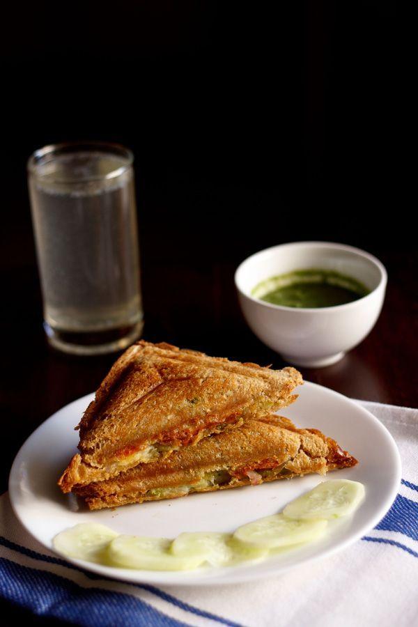 Veg cheese sandwich - food -