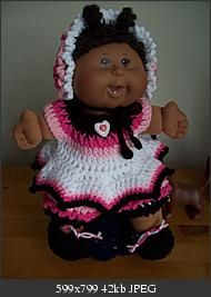 Click image for larger version name gbye01g views 56 size 422 say bye bye crocheted outfit pattern for a cpk girl doll dt1010fo