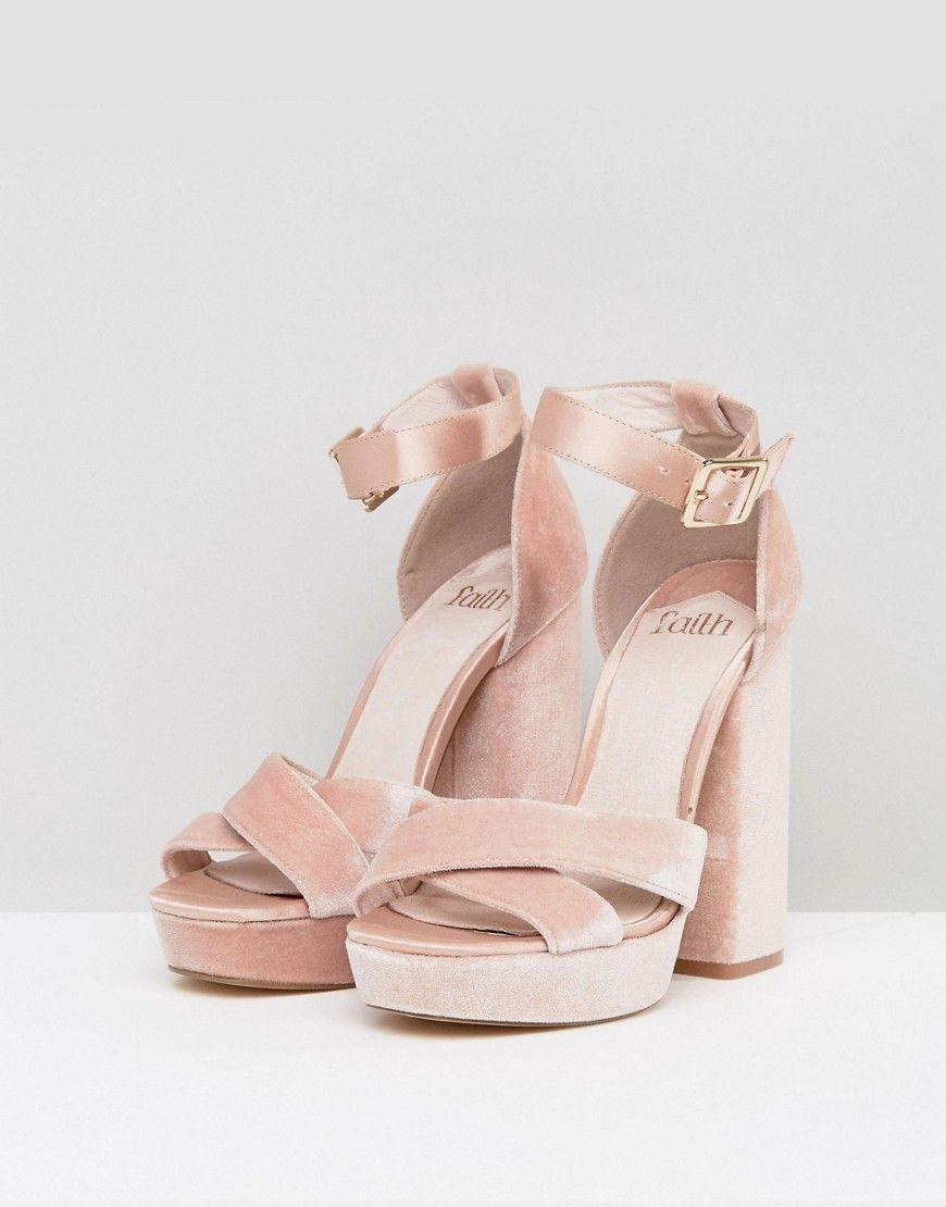 58668df95a2b Faith Blush Velvet And Satin Platform Sandals - Pink