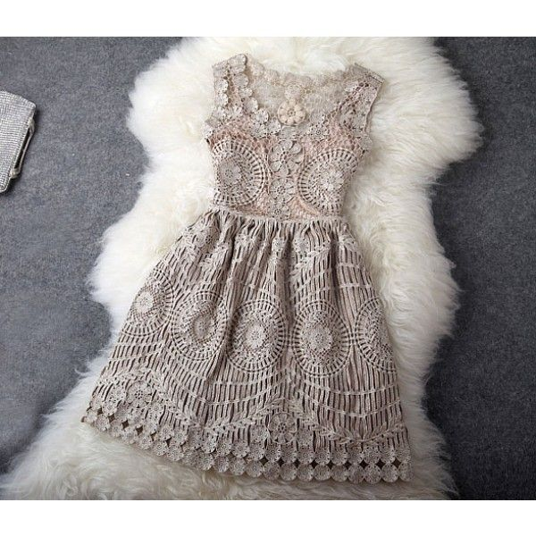 Cool! Vintage Hollow Out Gold Thread Embroidery Slim Dress  just $79.99 from ByGoods.com! I can't wait to get it!