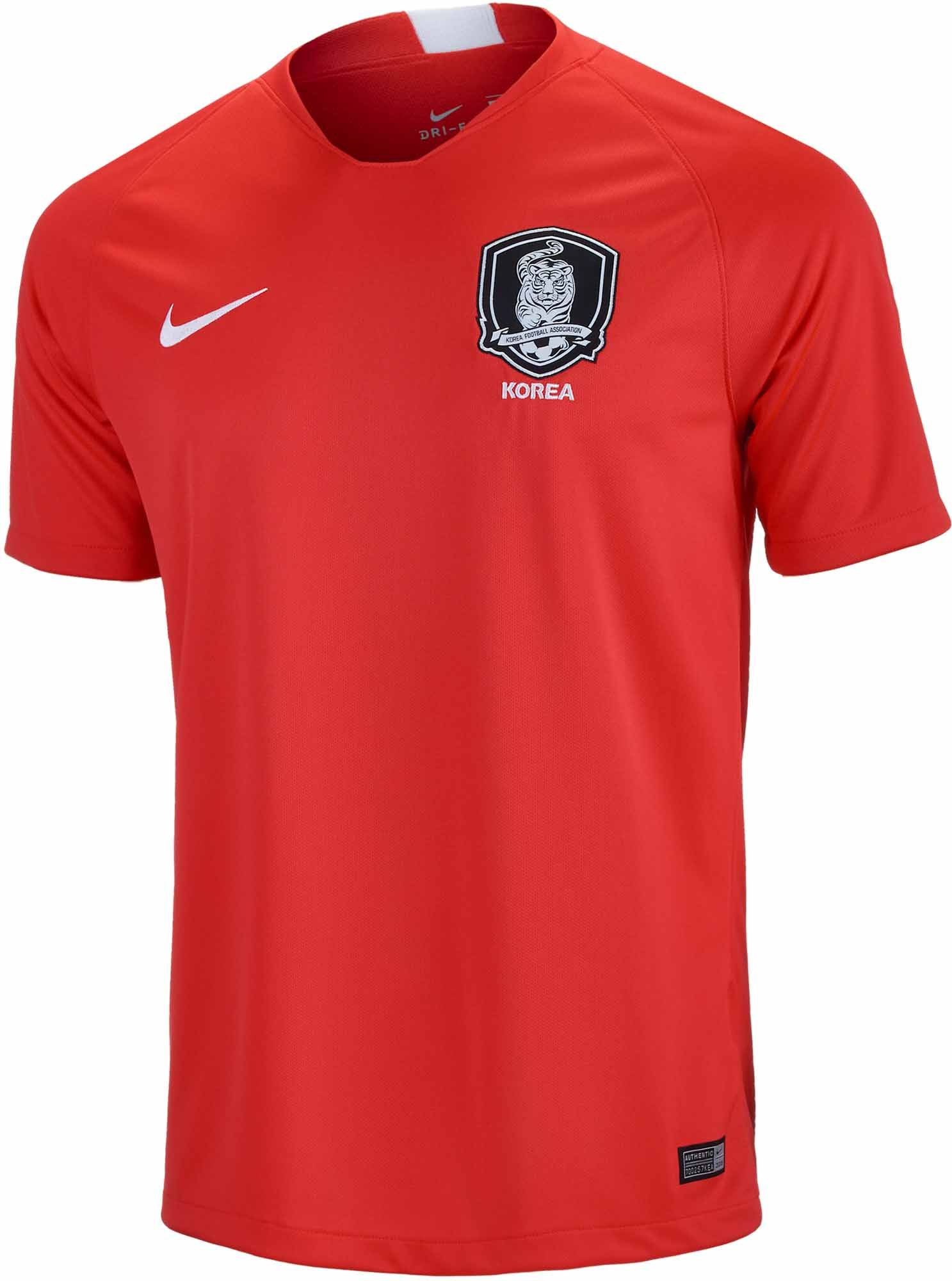 4dc0152d6aa 2018 19 Nike South Korea Home Jersey. Buy yours now from www.soccerpro.com