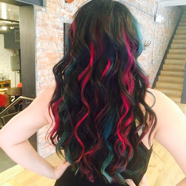 Mermaid hair in black turquoise and pink hair ideas pinterest mermaid hair in black turquoise and pink pmusecretfo Image collections