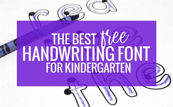The Best Free Handwriting Font for Kindergarten | Teaching ...