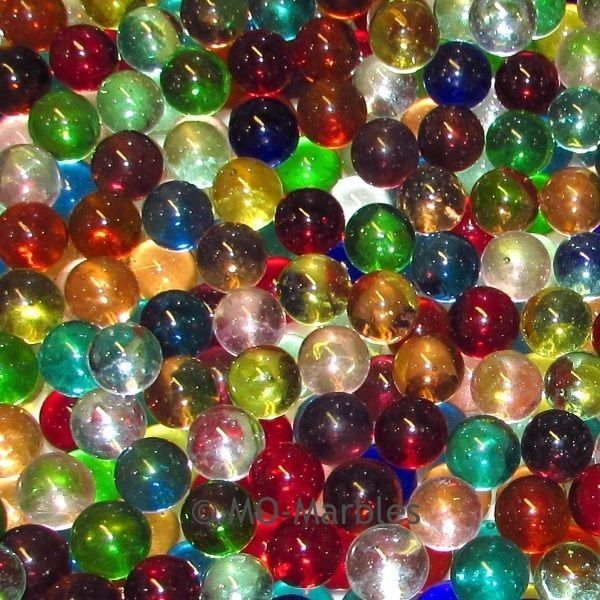 Marbles Bulk Marble King 2 LBS Of 9//16 Inch Transparent Mix With Free Shipping