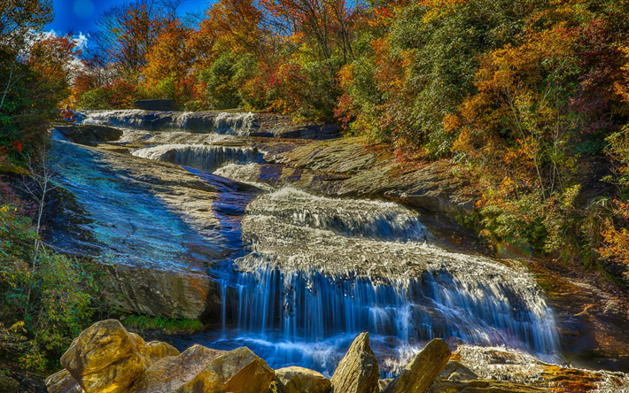 foto de Télécharger fonds d'écran l'automne, chute d'eau, les roches, les ...