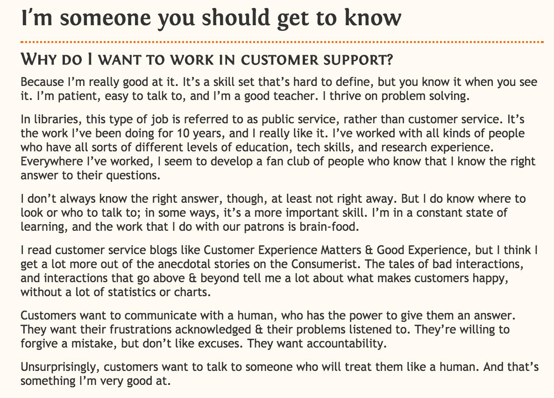 Customer support cover letter example | cv | Pinterest