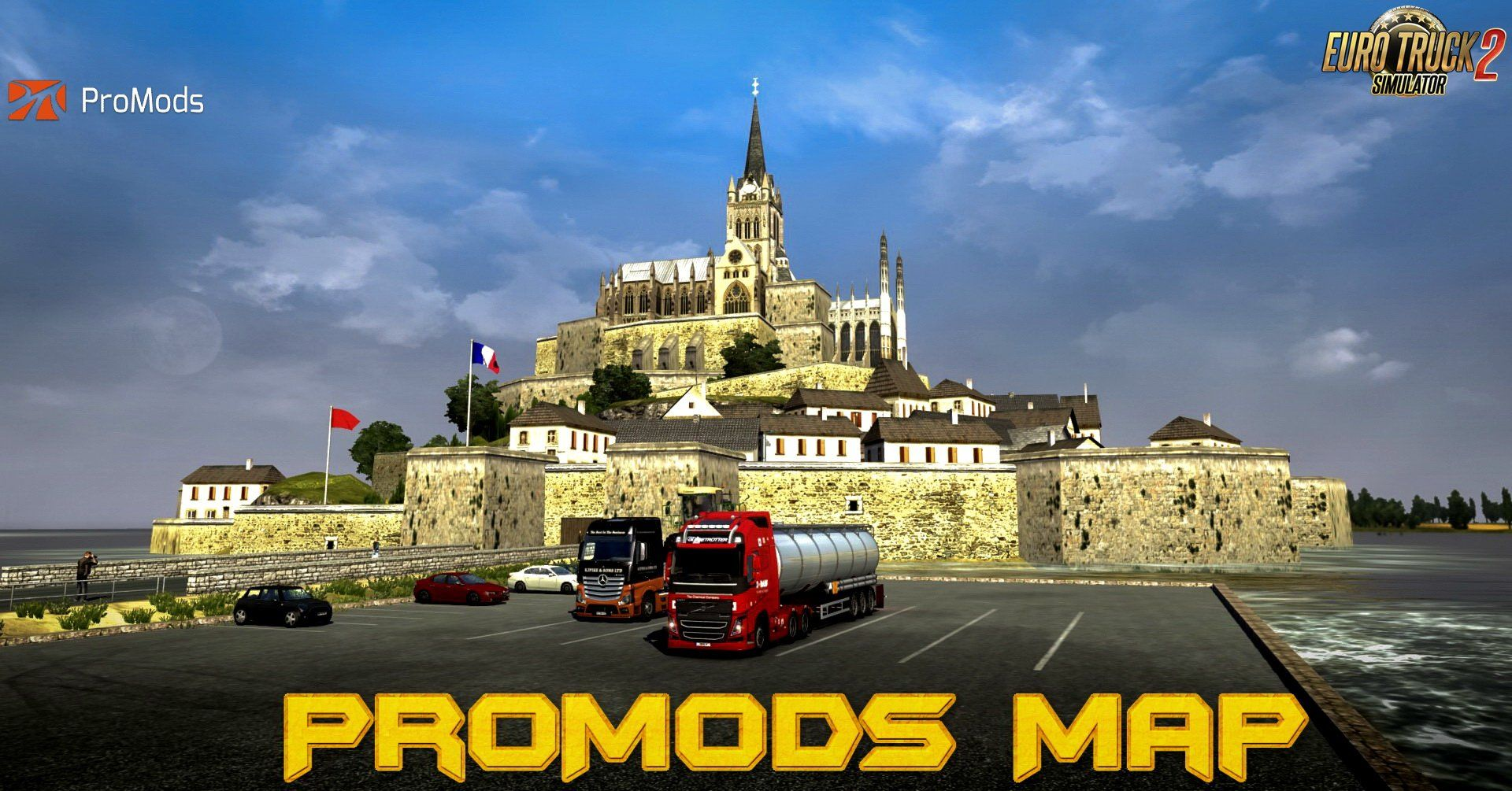 Promods Map 2 40 [1 34 x] for ETS2 , Euro Truck Simulator 2