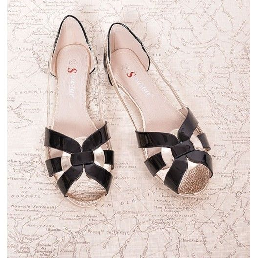 a81bab0c637d Letné dámske sandále čiernej farby - fashionday.eu