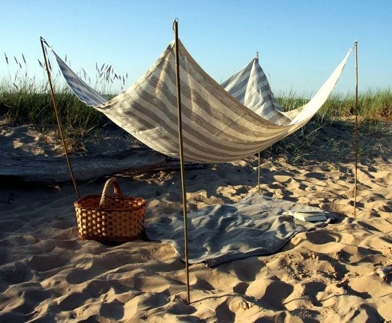 Wouldn't it be nice to spend the day reading on the beach in the shade? #EtsyLatvia