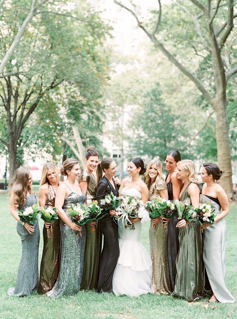 A lush candlelit affair in philadelphia wedding and weddings a lush candlelit affair in philadelphia mismatched bridesmaid dresses ombrellifo Gallery
