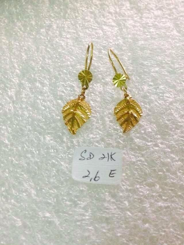 Saudi Gold Earrings 21k 2 6grams Price