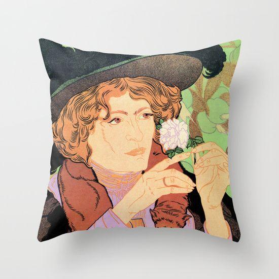 Art Nouveau Expo Salon des Cent Paris throw pillows/pillow (indoor) covers