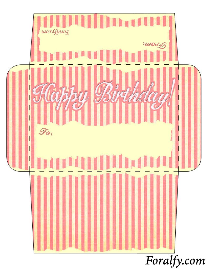 Paper Doll Birthday Card And Envelope