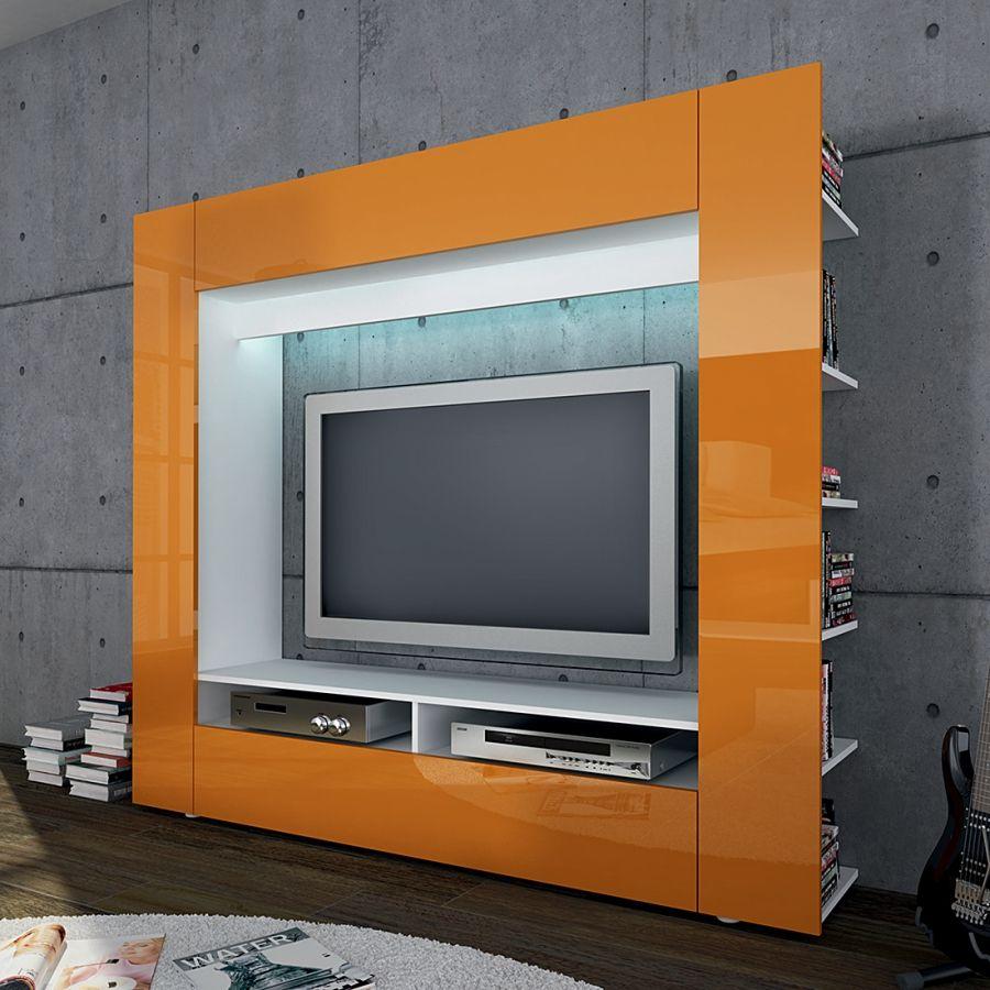 Wohnwand Olli Hochglanz Orange Furniture Home Decor Furniture