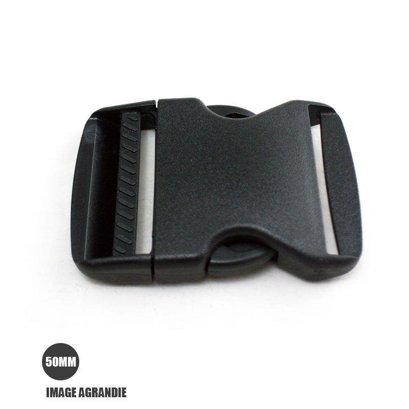69f4777404630 1 x 50mm Boucle Attache Rapide / Fermoir Clip / Plastique / Noir ...