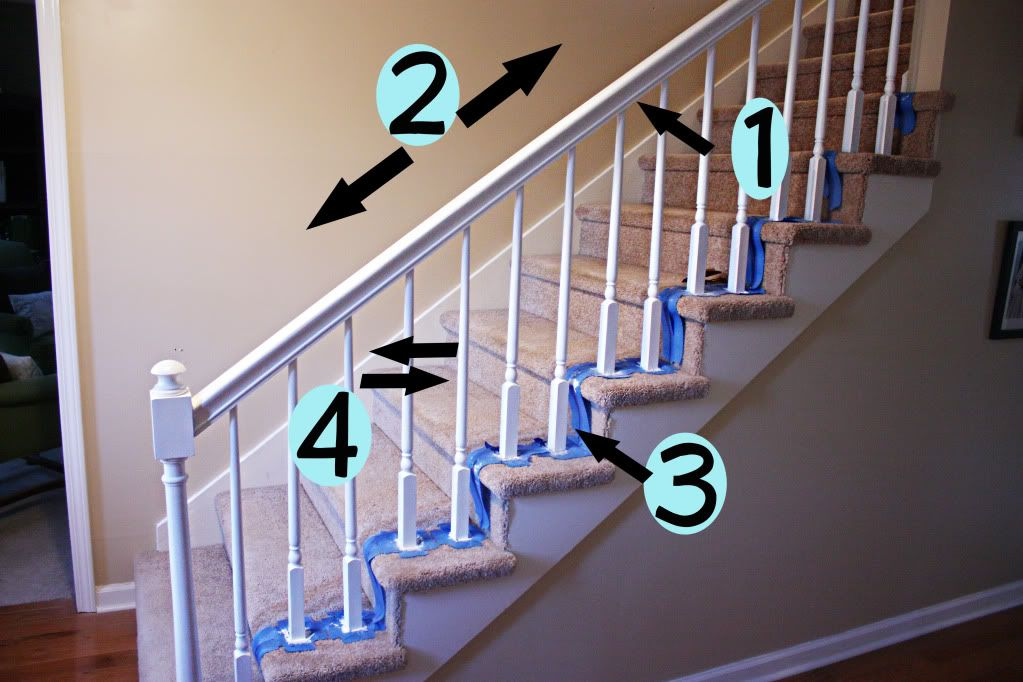 How To Paint Stairway Railings Bower Power Home Diy Painted   Painted Handrails For Stairs   Modern   German Style   House   Pressure Treated   Before And After
