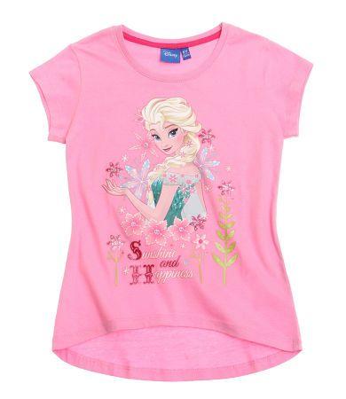 Disney Tee Shirt Reine des Neiges Fushia