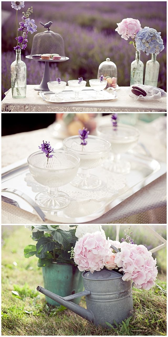 Outdoor garden wedding decoration ideas  Lavender Wedding Inspiration Shoot  Lavender ideas English country