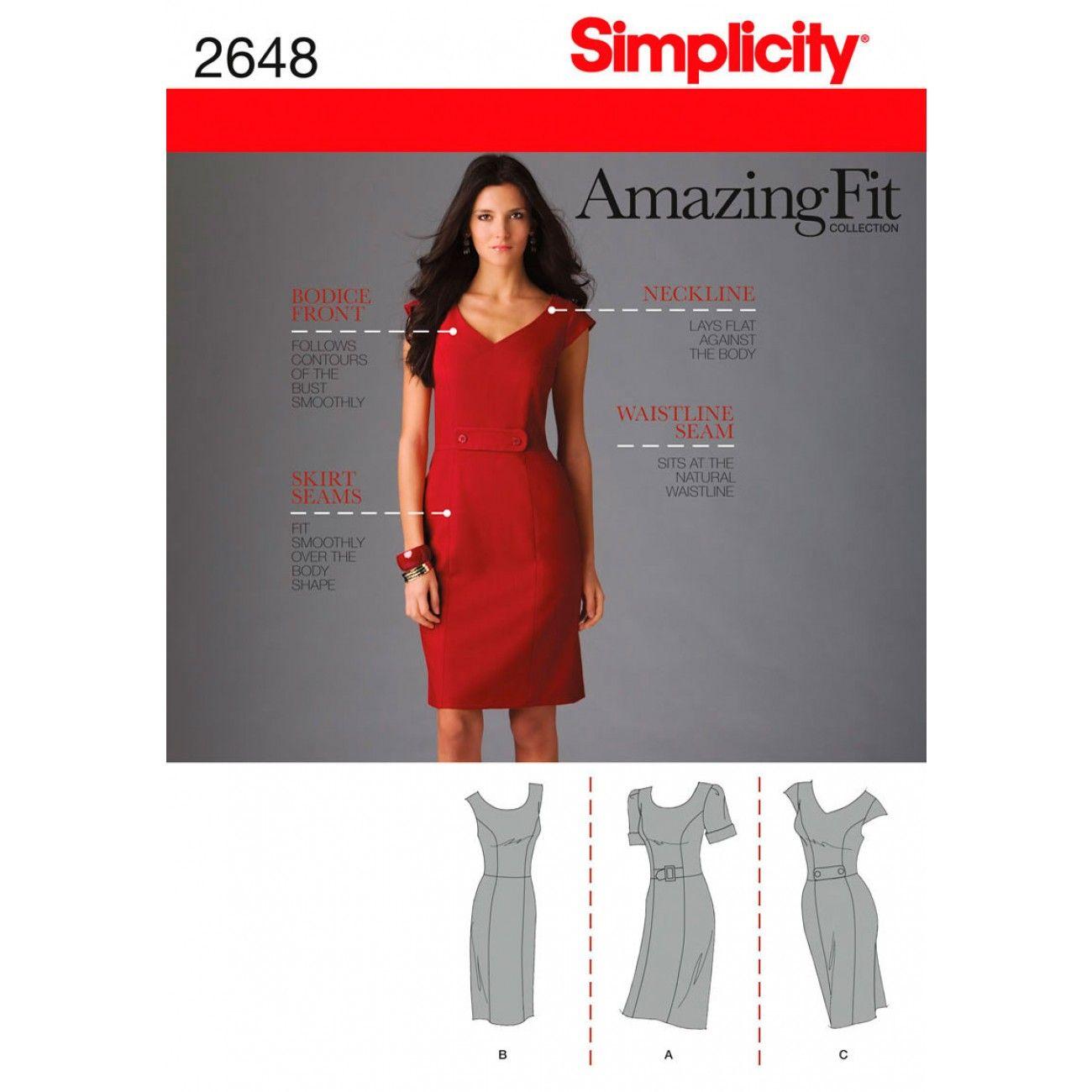 Simplicity pattern patterns fabric patterns shop online womens miss petite dress pattern 2648 simplicitypatterns for dressmaking class with black digital rose print lining jeuxipadfo Gallery