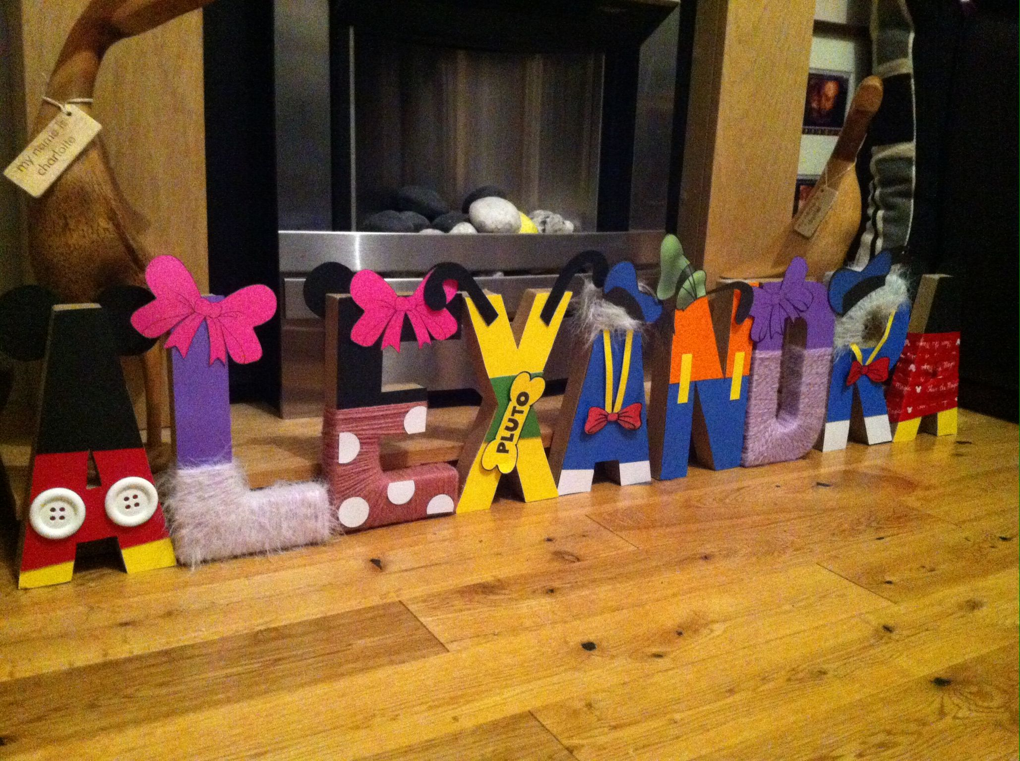 Mickey Mouse themed 3D letters Craft Ideas Pinterest