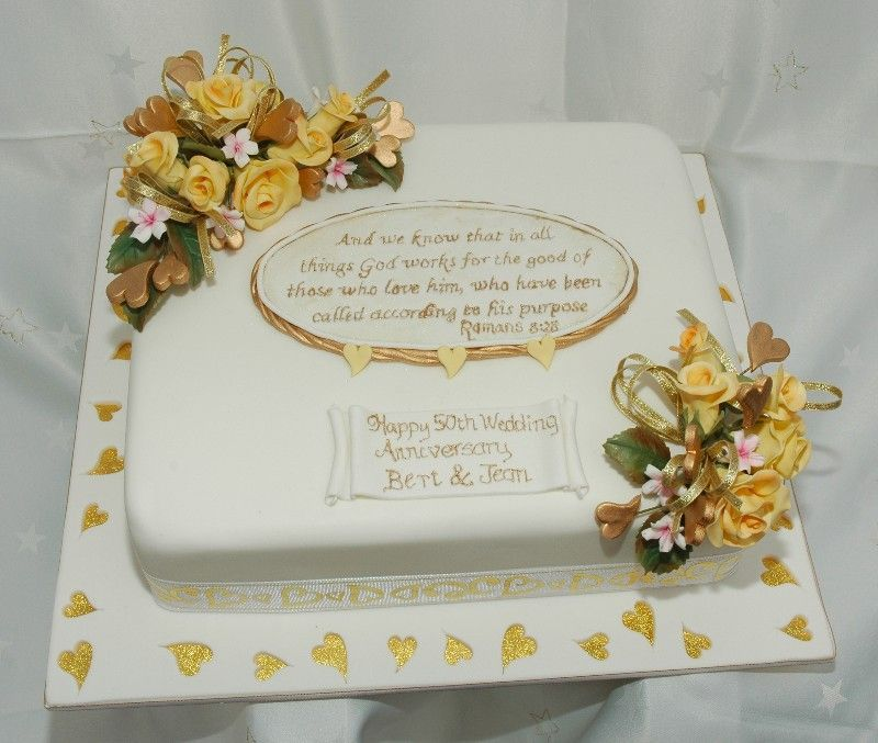 50th Wedding Anniversary Cake A Very Traditional