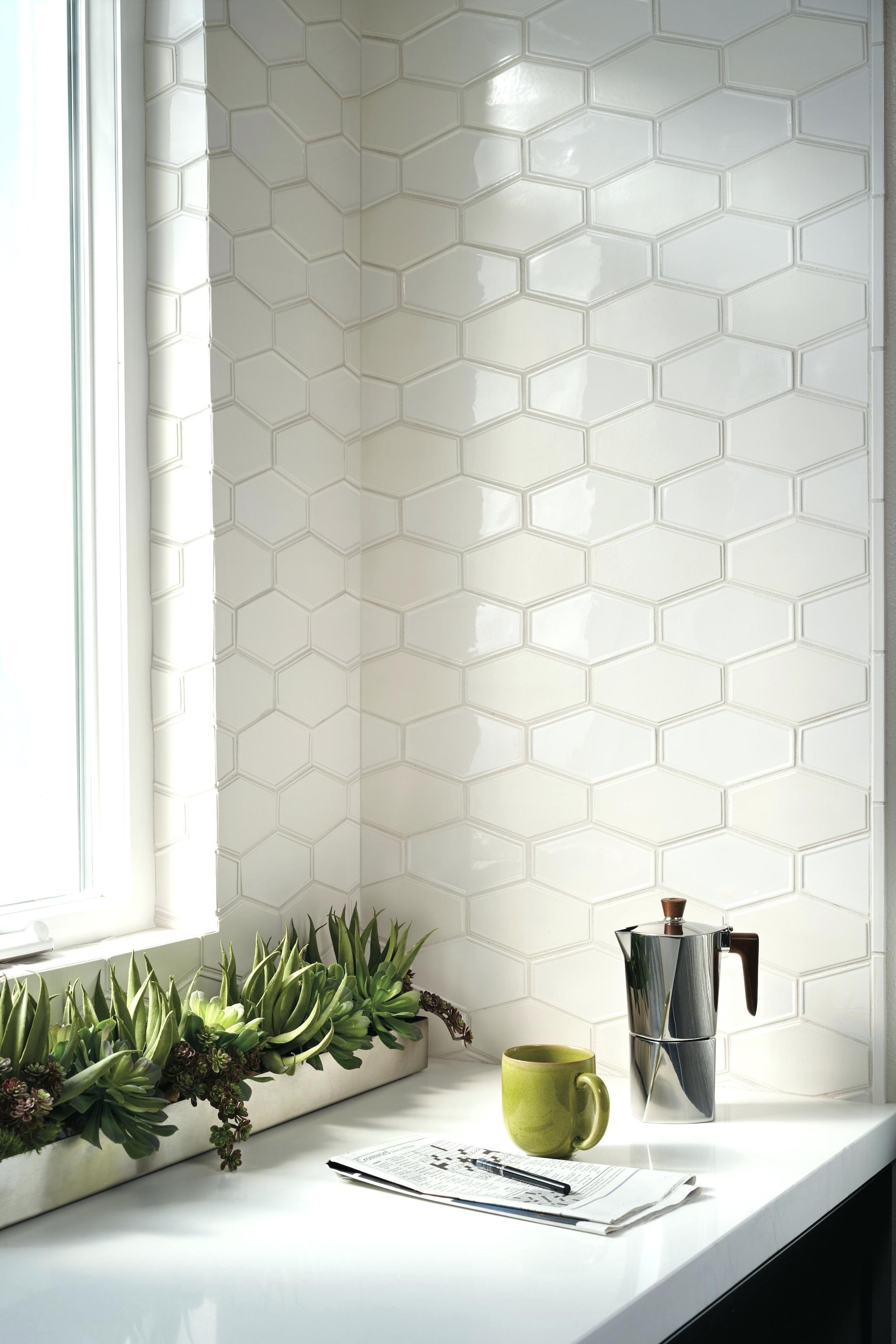 Hexagonal Tile Backsplash Frame By Made By Sacks Ceramic Tile Frame By Made By Sacks C Ann Sacks Kitchen Backsplash Kitchen Tiles Backsplash Kitchen Backsplash