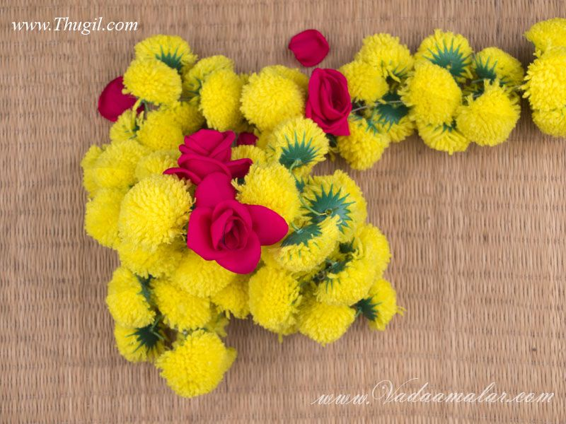 Mehndi Flower Garlands : Marigold flower synthetic door hanging decoration buy artifical