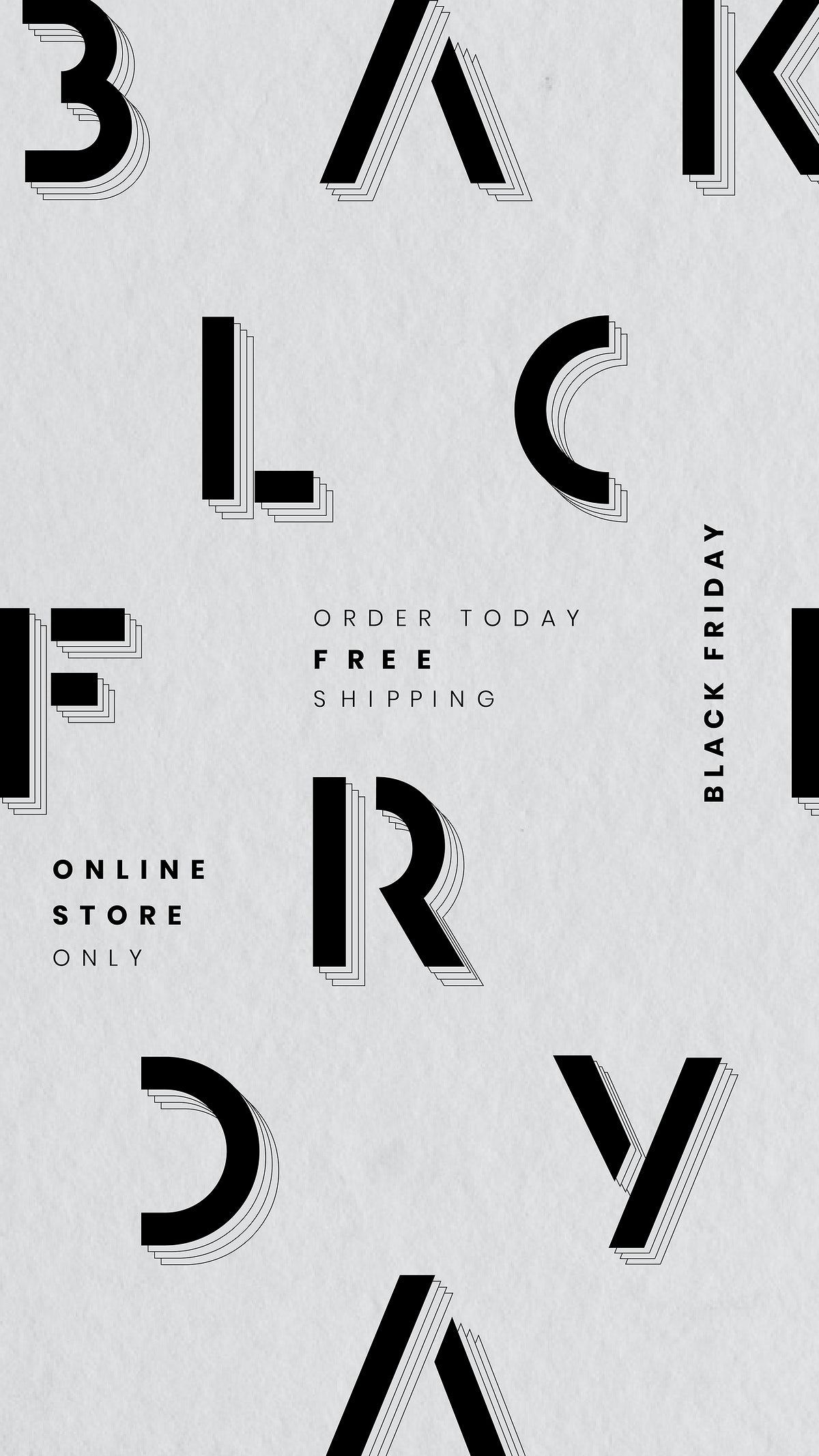 Black Friday Vector Minimal Sale Announcement Textured Banner Template Free Image By Rawpixel Com Wan In 2020 Social Media Icons Vector Vector Free Lettering