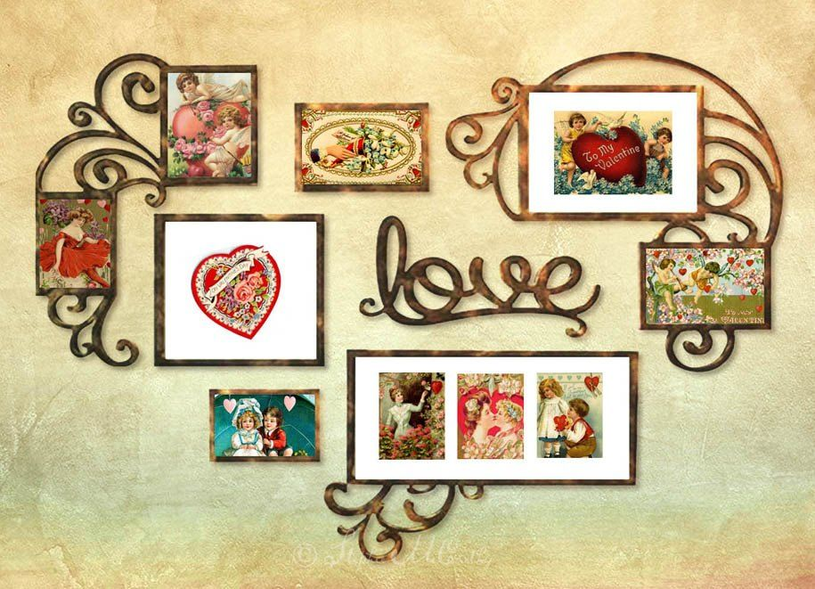 How to Make Quick Valentine Décor With Cards and Frames ...