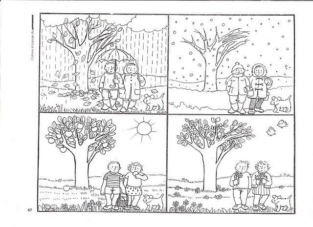 Actividades Escolares Actividades Sobre Campo Y Ciudad Estaciones Del Ano Actividades De Otono Para Ninos Actividades Graficas