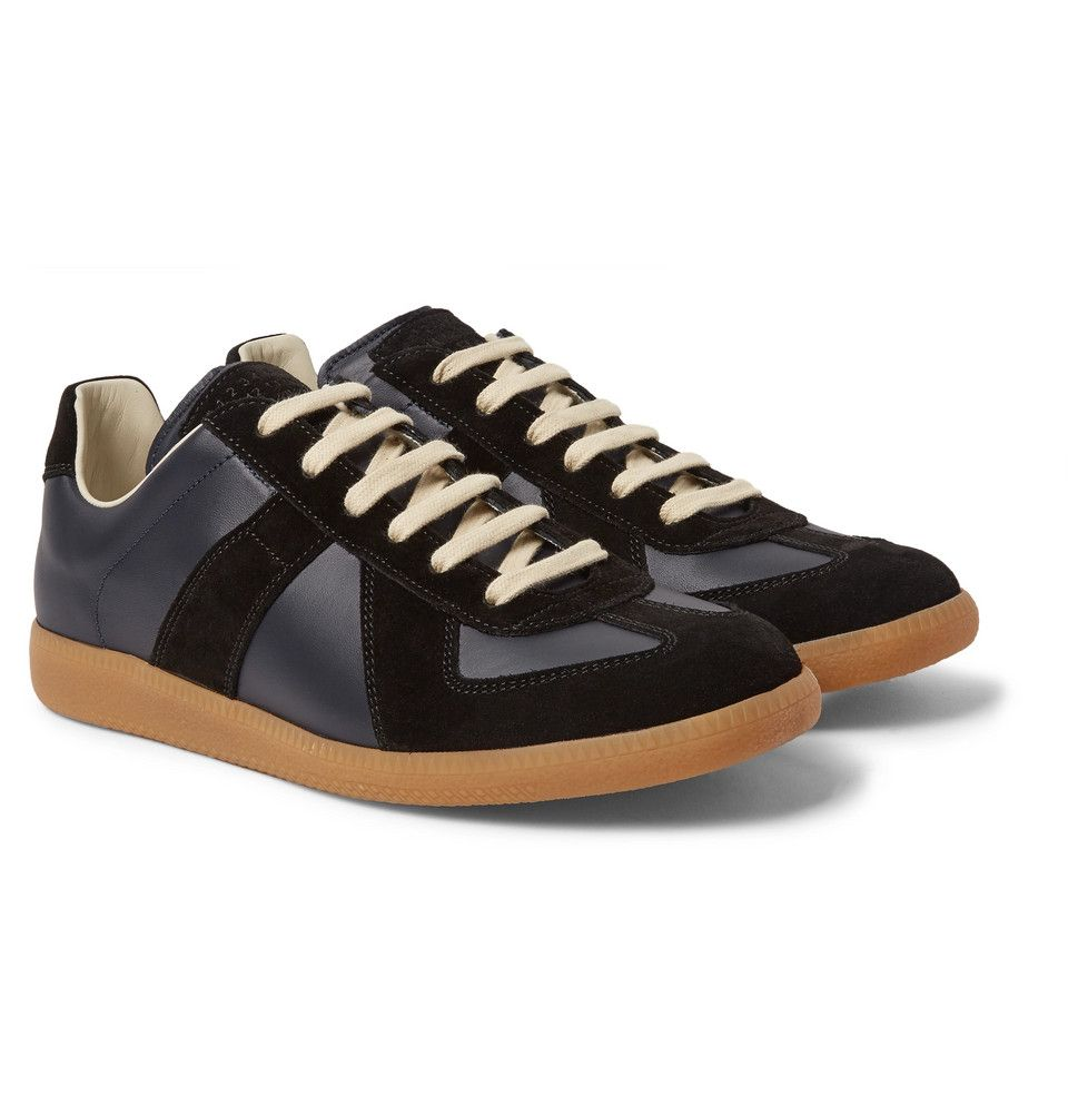 Replica Maison Leather Suede Sneakers and Margiela VGLqSMpUz