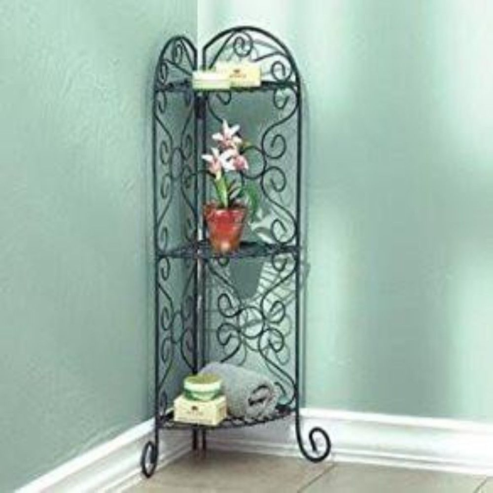 Antiqued Designed Corner Plant Stand | Products, Corner and Plants