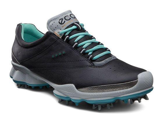 ECCO Womens BIOM Golf Lace (BLACK/TURQUOISE)