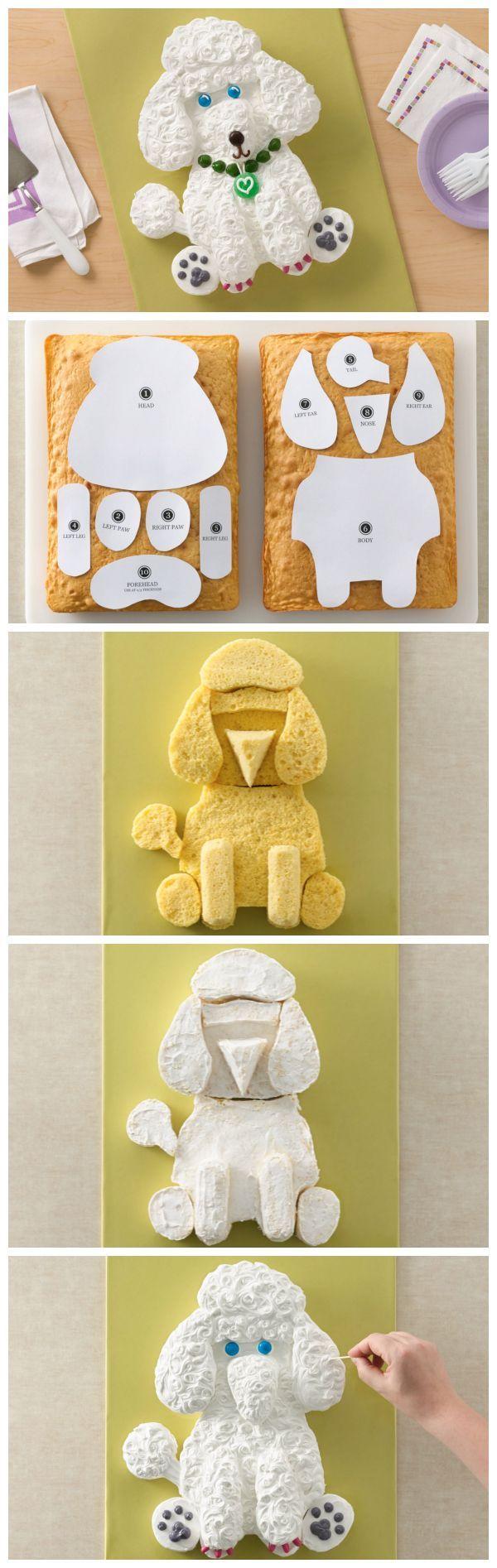 Poodle Dog Cake   Recipe   Cake Tutorials   Pinterest   Poodle, Dog ...