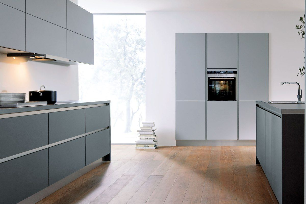 Best Stone Grey And Lava Black Matt Kitchen Handleless 400 x 300